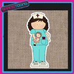 CUTE NURSE DESIGN JUTE  SHOPPING LADIES GIFT BAG 001